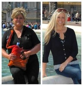 before and after weight loss another blonde